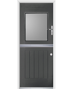 Ultimate Stable View Rockdoor in Slate Grey with Glazing