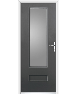 Ultimate Vogue Rockdoor in Slate Grey with Glazing