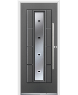 Ultimate Vermont Rockdoor in Slate Grey with Quadra and Bar Handle