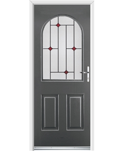 Ultimate Kentucky Rockdoor in Slate Grey with Red Diamonds