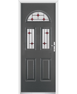 Ultimate Tennessee Rockdoor in Slate Grey with Red Diamonds