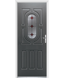 Ultimate Arcacia Rockdoor in Slate Grey with Red Diamonds