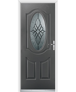 Ultimate Montana Rockdoor in Slate Grey with Renaissance Glazing