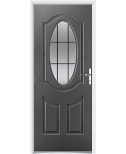Ultimate Montana Rockdoor in Slate Grey with Square Lead