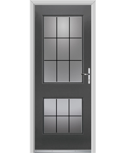 Ultimate Virginia Rockdoor in Slate Grey with Square Lead