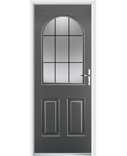 Ultimate Kentucky Rockdoor in Slate Grey with Square Lead