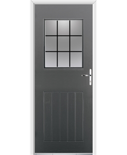 Ultimate Cottage View Rockdoor in Slate Grey with Square Lead