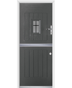 Ultimate Stable Spy Rockdoor in Slate Grey with Square Lead