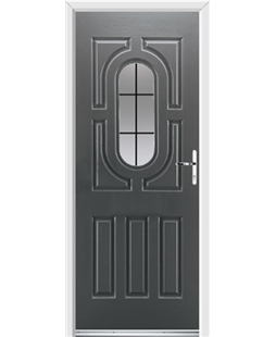 Ultimate Arcacia Rockdoor in Slate Grey with Square Lead
