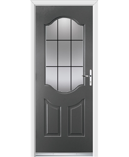 Ultimate Georgia Rockdoor in Slate Grey with Square Lead