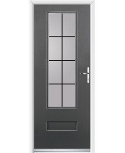 Ultimate Vogue Rockdoor in Slate Grey with Square Lead