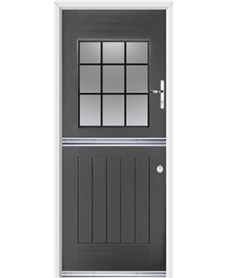 Ultimate Stable View Rockdoor in Slate Grey with Square Lead
