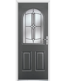 Ultimate Kentucky Rockdoor in Slate Grey with Summit Glazing