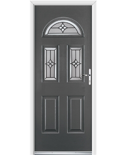 Ultimate Tennessee Rockdoor in Slate Grey with Summit Glazing
