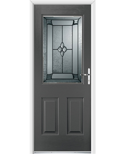 Ultimate Windsor Rockdoor in Slate Grey with Titania Glazing