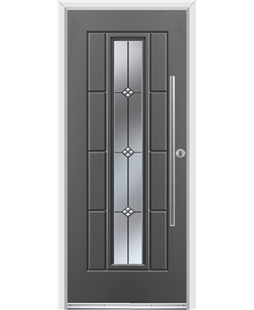 Ultimate Vermont Rockdoor in Slate Grey with Trio and Bar Handle