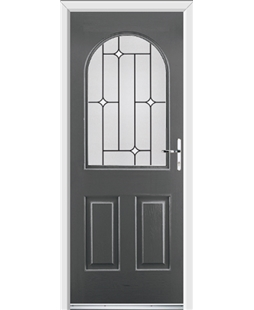 Ultimate Kentucky Rockdoor in Slate Grey with White Diamonds