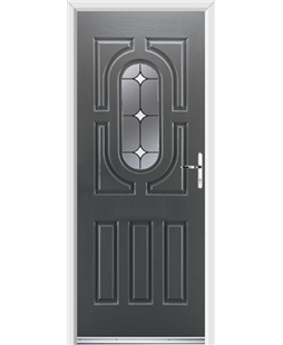 Ultimate Arcacia Rockdoor in Slate Grey with White Diamonds