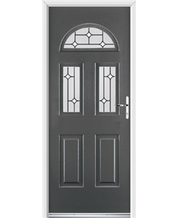 Ultimate Tennessee Rockdoor in Slate Grey with White Diamonds