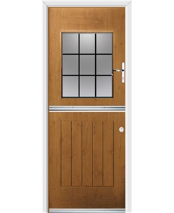 Ultimate Stable View Rockdoor in Irish Oak with Square Lead
