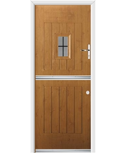 Ultimate Stable Spy Rockdoor in Irish Oak with Square Lead