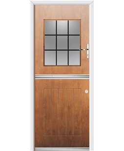 Ultimate Stable View Rockdoor in Light Oak with Square Lead