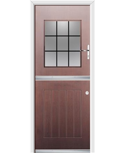 Ultimate Stable View Rockdoor in Rosewood with Square Lead