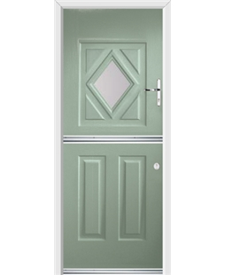 Ultimate Stable Diamond Rockdoor in Chartwell Green with Glazing