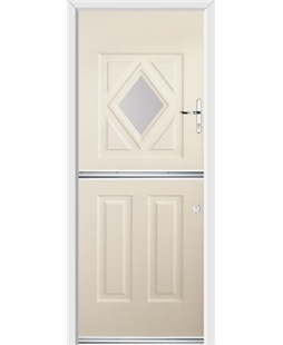 Ultimate Stable Diamond Rockdoor in Cream with Glazing