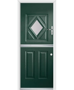 Ultimate Stable Diamond Rockdoor in Emerald Green with Glazing