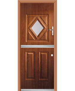 Ultimate Stable Diamond Rockdoor in Light Oak with Clear Glazing