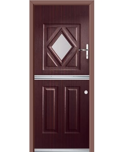 Ultimate Stable Diamond Rockdoor in Mahogany with Clear Glazing