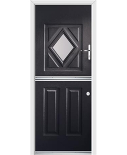 Ultimate Stable Diamond Rockdoor in Onyx Black with Glazing