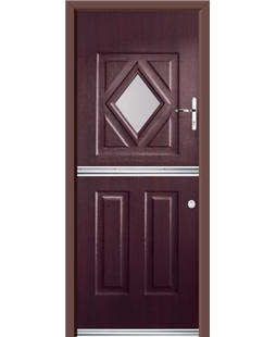 Ultimate Stable Diamond Rockdoor in Rosewood with Clear Glazing