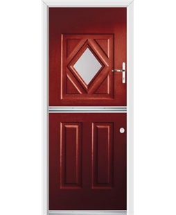 Ultimate Stable Diamond Rockdoor in Ruby Red with Glazing