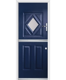Ultimate Stable Diamond Rockdoor in Sapphire Blue with Glazing