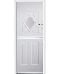 Ultimate Stable Diamond Rockdoor in White with Glazing