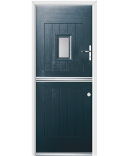Ultimate Stable Spy Rockdoor in Anthracite Grey with Glazing