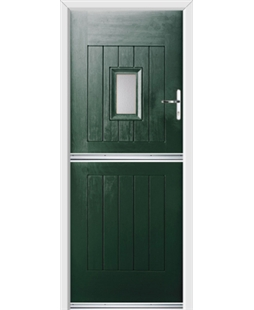Ultimate Stable Spy Rockdoor in Emerald Green with Glazing