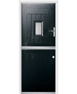 Ultimate Stable Spy Rockdoor in Onyx with Glazing