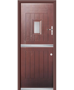 Ultimate Stable Spy Rockdoor in Rosewood with Clear Glazing