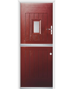 Ultimate Stable Spy Rockdoor in Ruby Red with Glazing