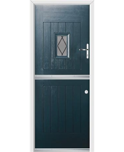 Ultimate Stable Spy Rockdoor in Anthracite Grey with Diamond Lead