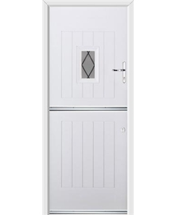 Ultimate Stable Spy Rockdoor in White with Diamond Lead