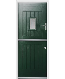 Ultimate Stable Spy Rockdoor in Emerald Green with Gluechip Glazing