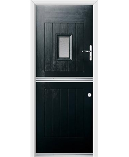 Ultimate Stable Spy Rockdoor in Onyx with Gluechip Glazing