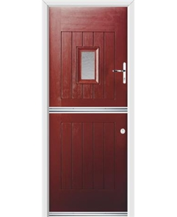 Ultimate Stable Spy Rockdoor in Ruby Red with Gluechip Glazing