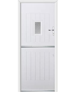 Ultimate Stable Spy Rockdoor in White with Gluechip Glazing