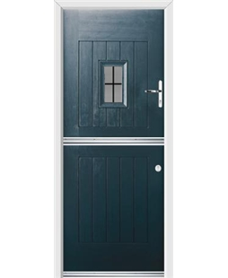 Ultimate Stable Spy Rockdoor in Anthracite Grey with Square Lead
