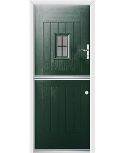 Ultimate Stable Spy Rockdoor in Emerald Green with Square Lead